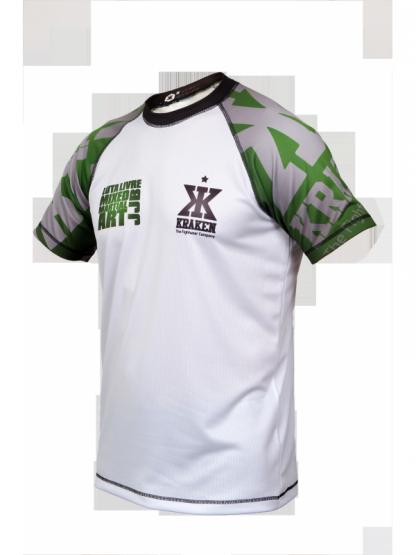 Xpert Dry Mix Green MMA shirt schuin voor